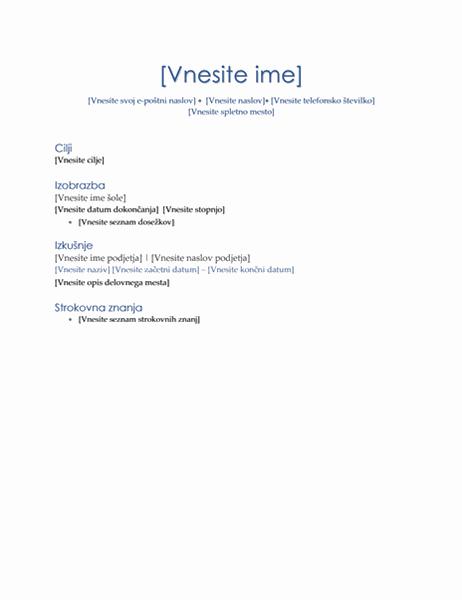 Življenjepis (tema »vodstveno«)