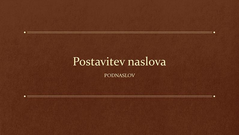 Klasična predstavitev z motivom knjige za izobraževalne ustanove (širokozaslonska)