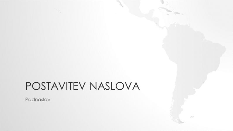 Niz zemljevidov sveta, predstavitev o Južni Ameriki (širokozaslonsko)
