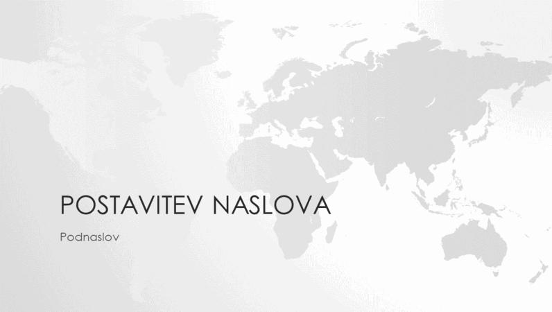 Niz zemljevidov sveta, predstavitev o svetu (širokozaslonsko)