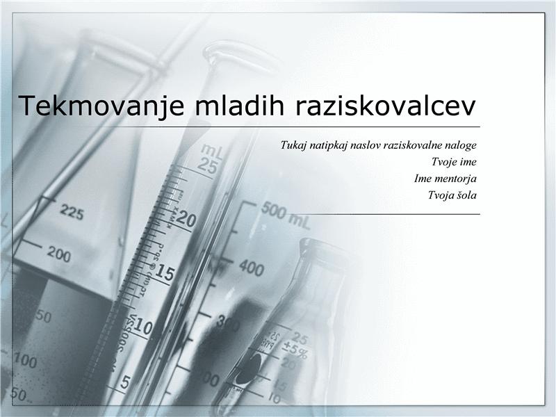Predstavitev za tekmovanje mladih raziskovalcev