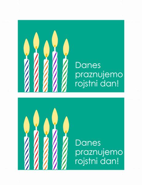 Razglednica s povabilom na rojstni dan