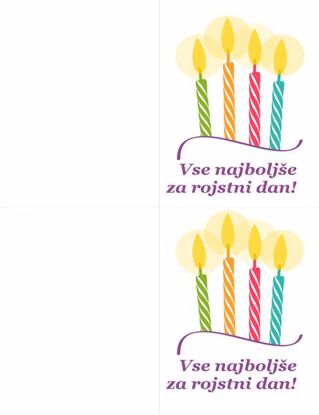 Rojstnodnevne kartice (2/stran)