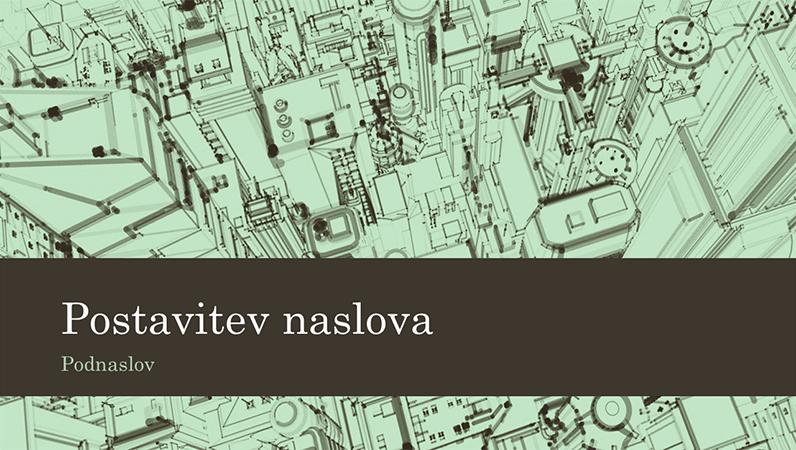 Poslovna predstavitev z ozadjem ilustracije mesta (širokozaslonsko)