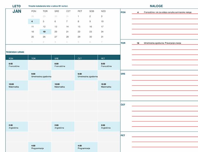 Študentski koledar (mes)