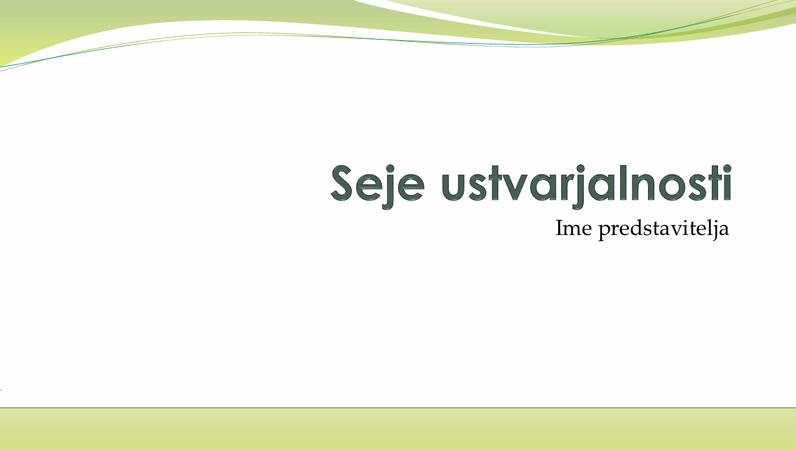 Predstavitev za poslovno zbiranje zamisli