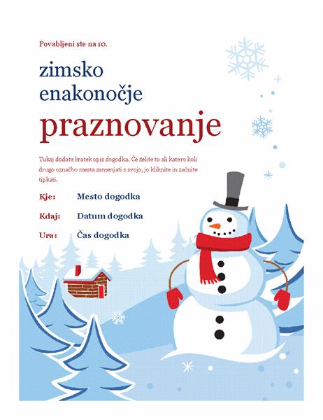 Letak zimske zabave