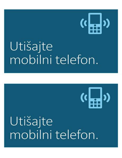 Znak za prepoved uporabe mobilnega telefona (2 na stran)