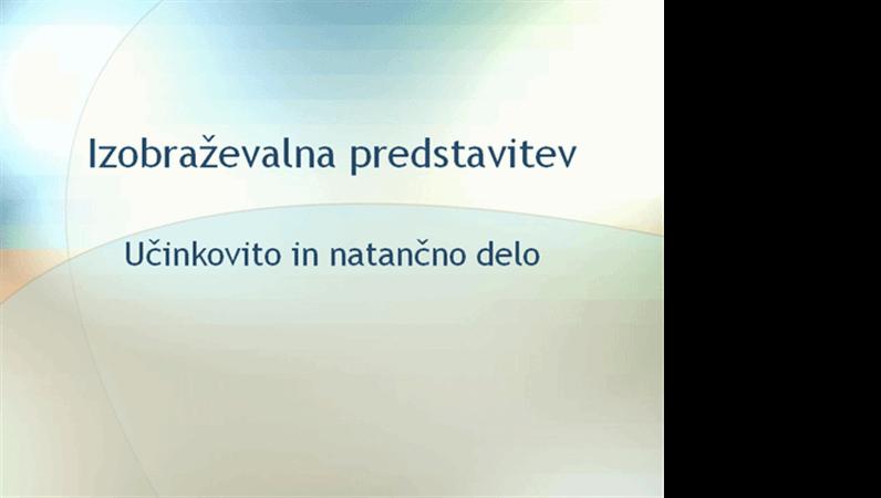 Predstavitev izobraževalnega seminarja