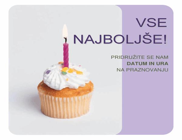 Letak za povabilo na rojstni dan (s tortico)