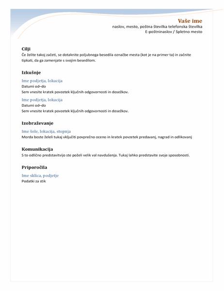 Kronološki življenjepis