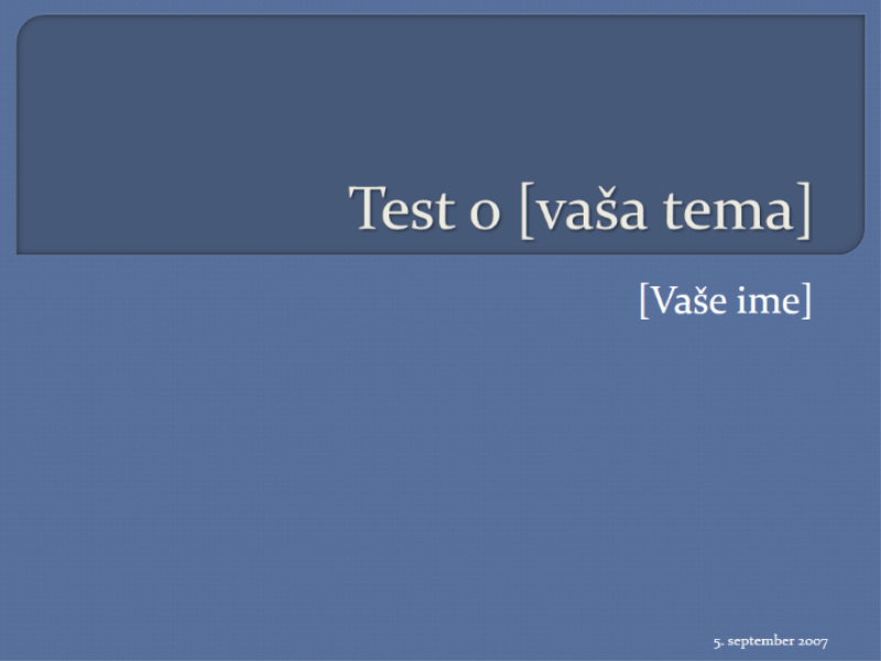 Test z več odgovori (4 odgovori)