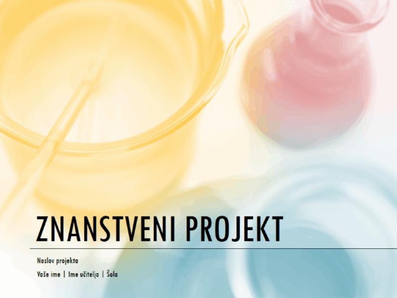 Predstavitev za znanstveni projekt