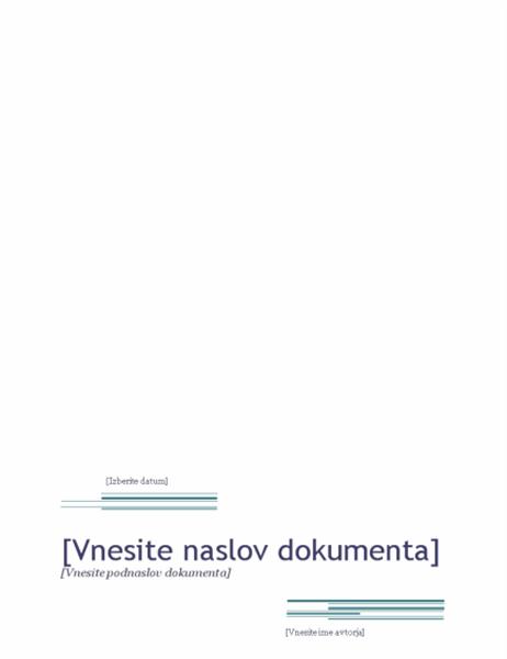 Poročilo (načrt Urbano)