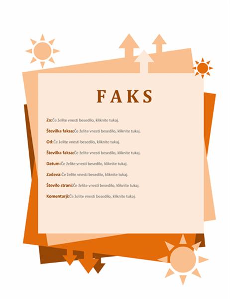 Naslovnica faksa