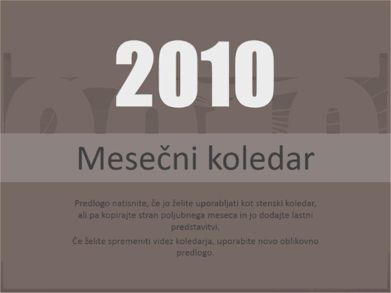 Koledar 2010 (pon-ned)