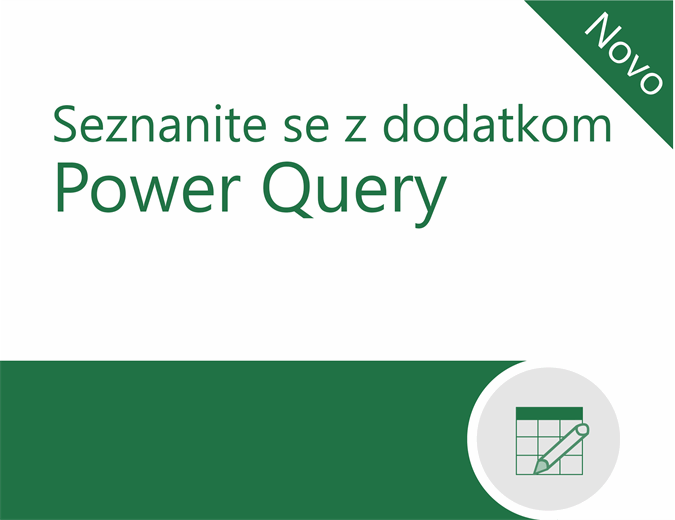 Vadnica za dodatek Power Query