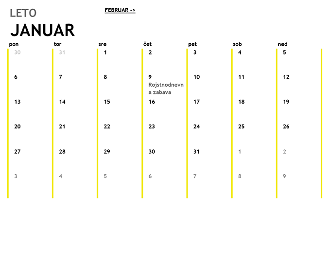 12-mesečni koledar
