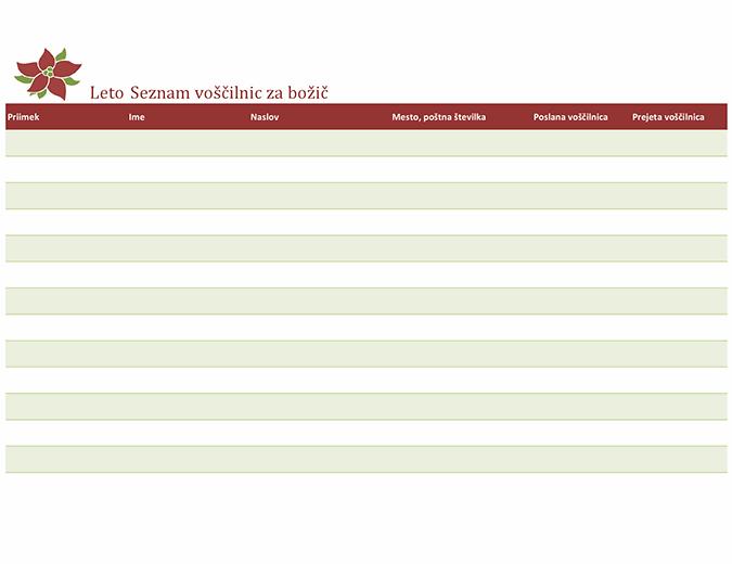 Seznam voščilnic za božič