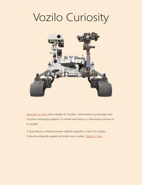 3-D znanstveno poročilo v Wordu (model Mars Rover)