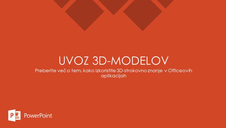 Uvoz 3D-modelov