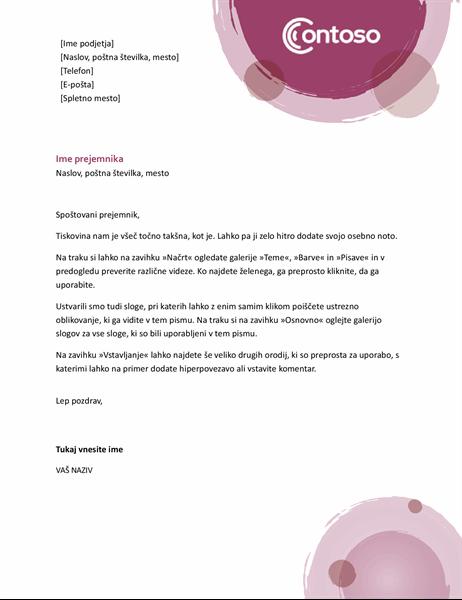 Glava pisma iz rožnate zbirke