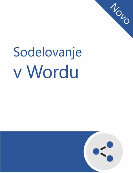 Vadnica za sodelovanje v Wordu