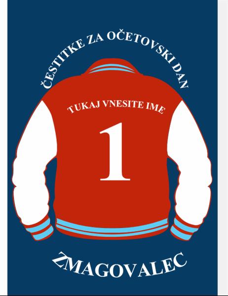 Čestitka za očetovski dan – športna jakna