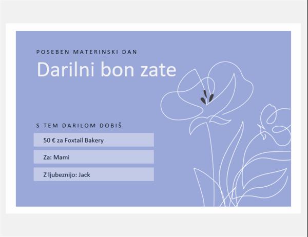 Darilni boni za materinski dan