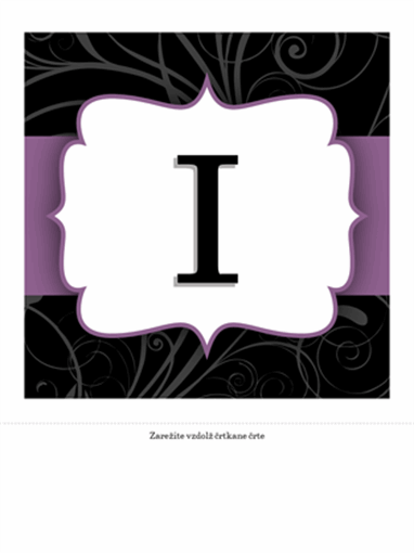 Letak za obletnico (načrt s purpurnim trakom)