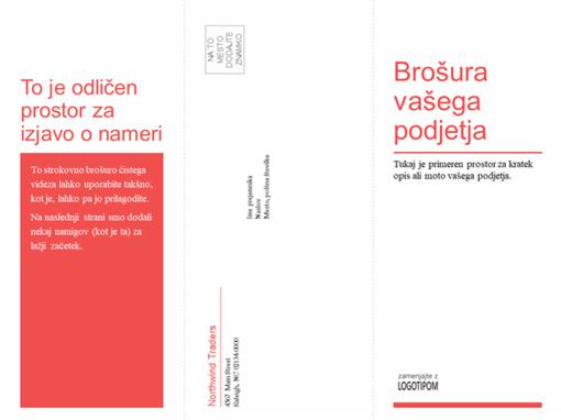 Tridelna poslovno-zdravstvena brošura (rdeč in bel načrt)
