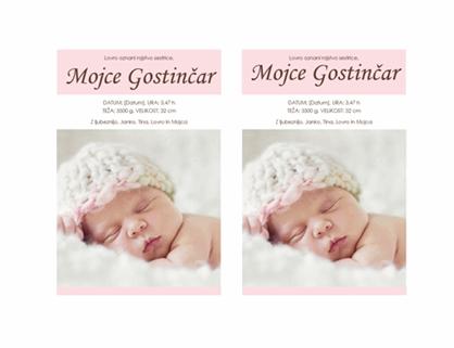Naznanitev rojstva deklice