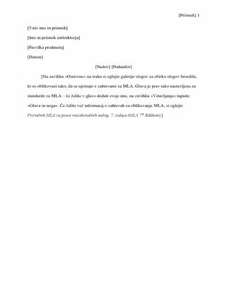 Slogi citiranja MLA