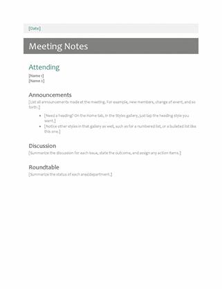 Zapiski srečanja