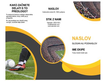 Brošura s športnim motivom