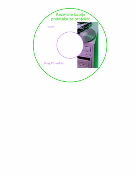 Nalepnice za CD-ove sa rezervnim kopijama podataka