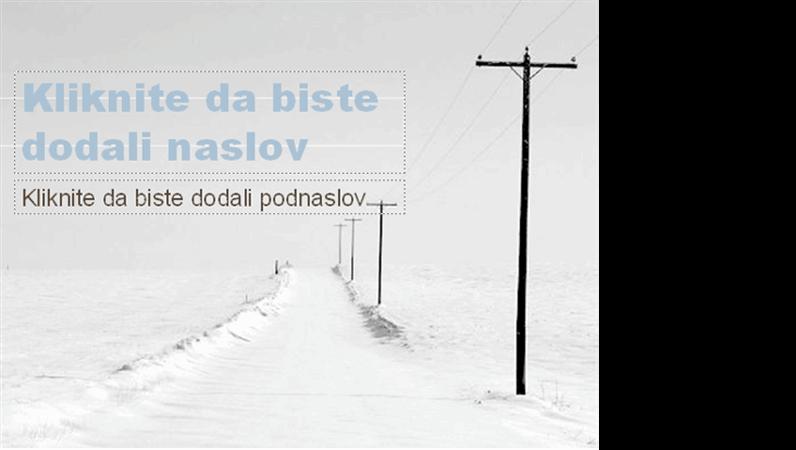 Dizajn predloška sa snežnim putem