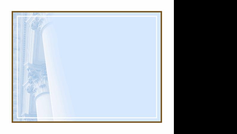 Predložak za dizajniranje sa kolonama u obliku korintskih stubovima