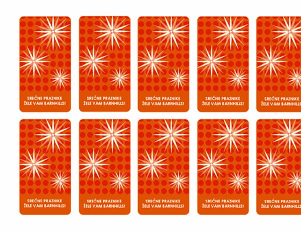 Privesci za praznične poklone (mod. dizajn pahulje, prikladno uz Avery 5871, 8871, 8873, 8876 i 8879)