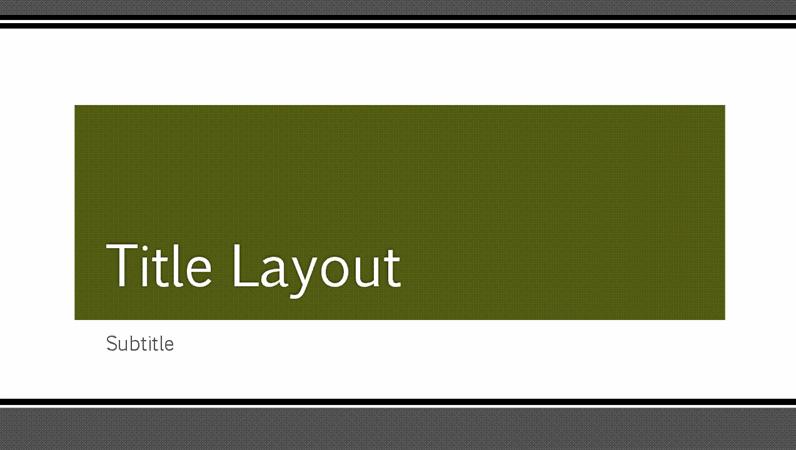 Prezentacija sa segmentiranom crnom ivicom (široki ekran)