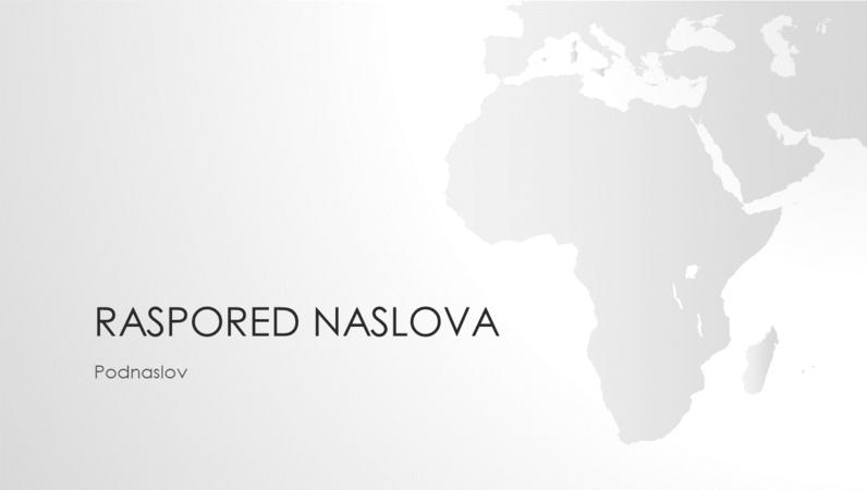 """Serija """"Mape sveta"""", prezentacija afričkog kontinenta (široki ekran)"""