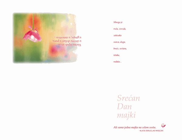 Razglednica za Dan majki (akvarel)