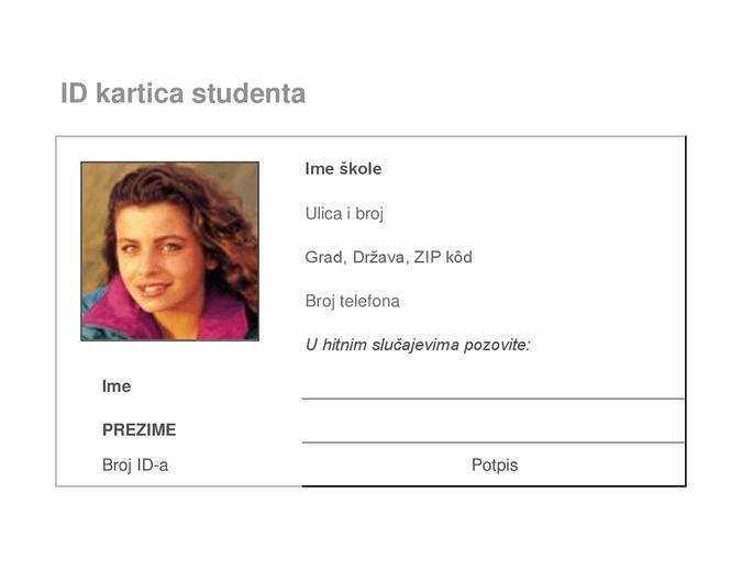 Kartica za identifikaciju studenta
