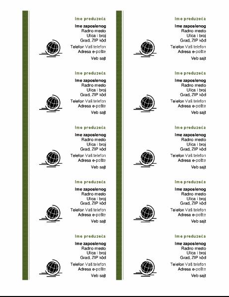 Poslovne vizitkarte (10 po stranici)