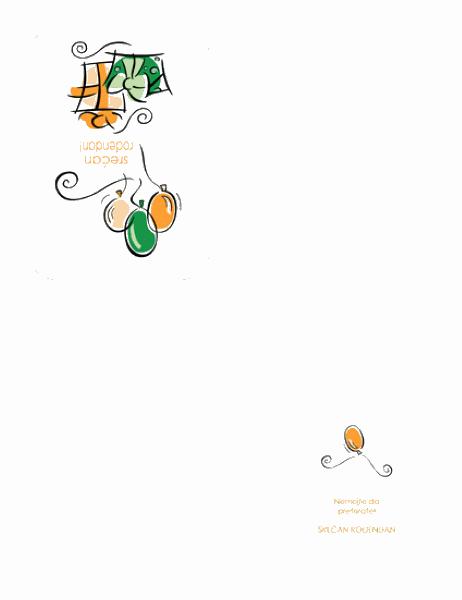 Rođendanska čestitka (sa balonima)