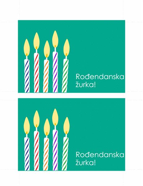 Rođendanska pozivnica-razglednica