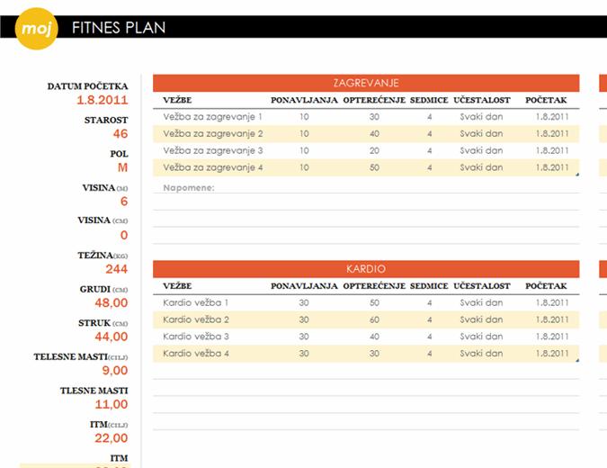Fitnes plan