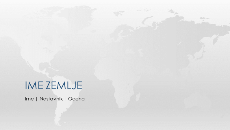 Prezentacija izveštaja o zemljama na svetu