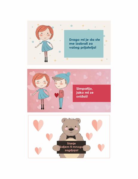 Dan zaljubljenih za decu (12 dizajna, 3 po stranici)