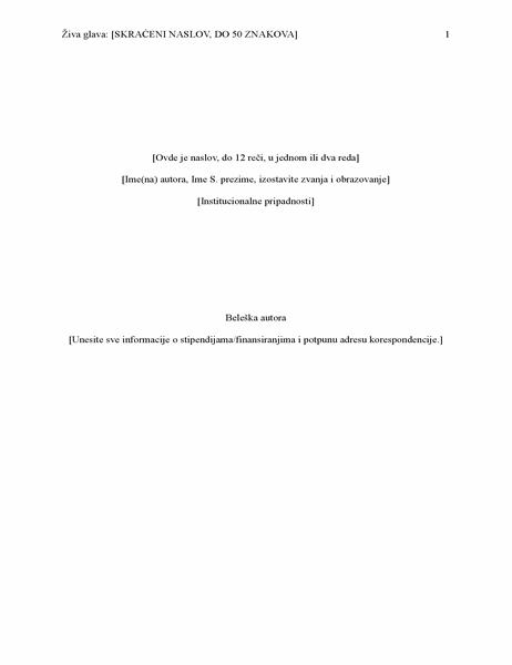 Izveštaj APA stila (6. izdanje)